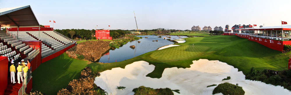 The 18th Hole on the Blackstone Course at Mission Hills Haikou