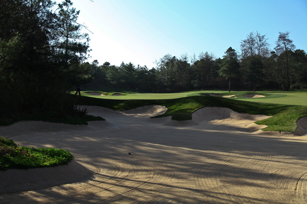 A shot of the bunkering on the Mountain course at Spring City.