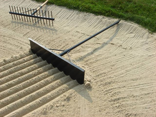 I posted these photos years ago on Twitter feed but these will conclude my Oakmont photos for a while. I saw these rakes hanging on the shop wall when I was working on the maintenance crew at Oakmont and I gave it a test one day after work. It was a pretty straight forward shot from a green side bunker, coming out low with not much spin but not entirely difficult to get out of.