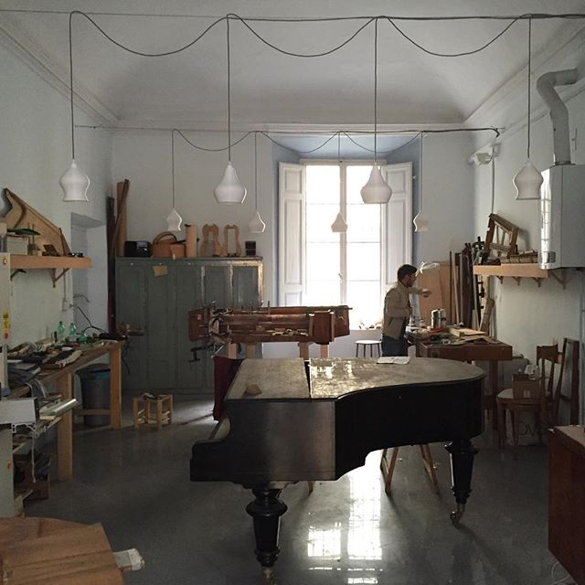 #3dprinting #light for a piano workshop in #piacenza  #design #filippolosilab #interior #liuteriadamianiebezza