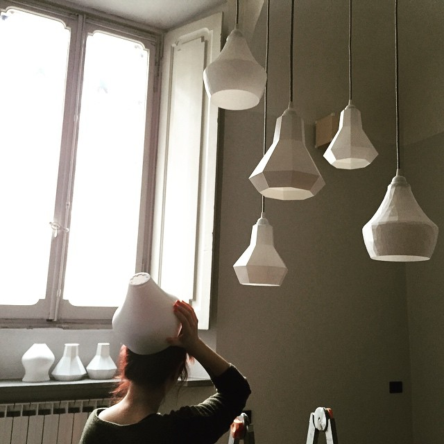Lamp or fashionable headdress? #filippolosilab #design #geometric #3dprinting #lamps #lowpoly #ligthdesign #ligth #interior #cluster