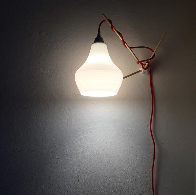 Satellite inspired #3dprinted #joint for wall mounting a #pendant #light  #filippolosilab #interiordesign