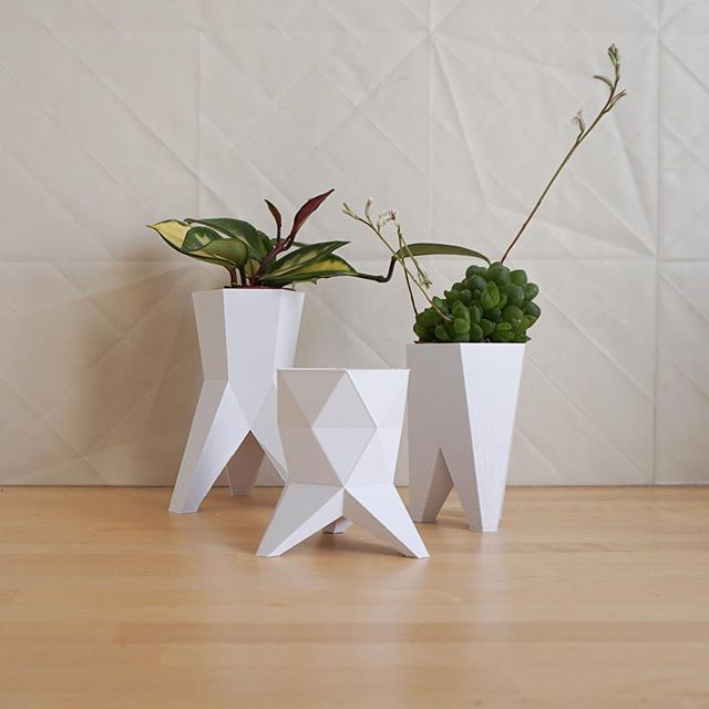 Hey there, we are polyfauna! #3dprinted little #vase #geometric #lowpoly #design #filippolosilab www.filippolosilab.com/polyfauna-1