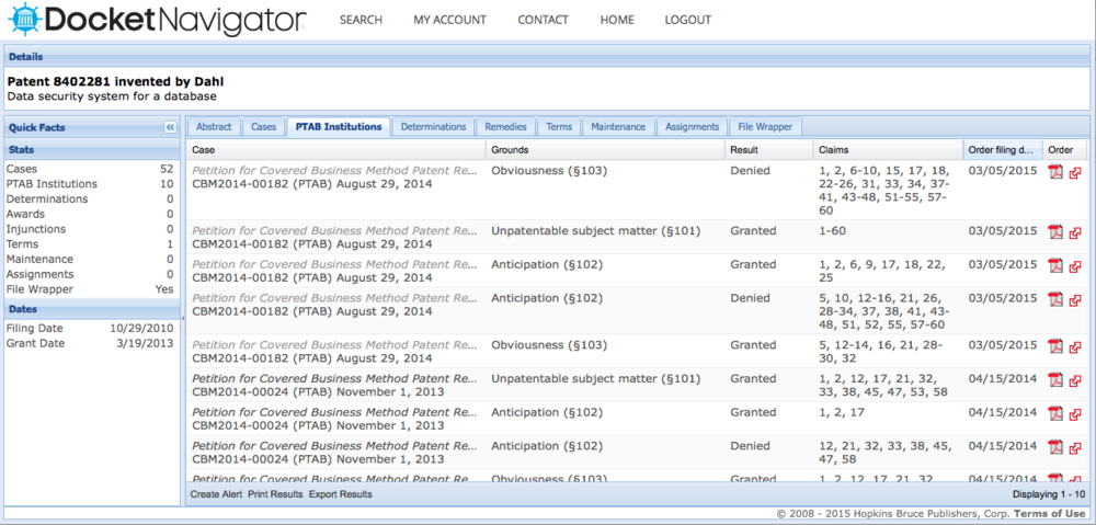 docket-navigator-ptab-filings-screen