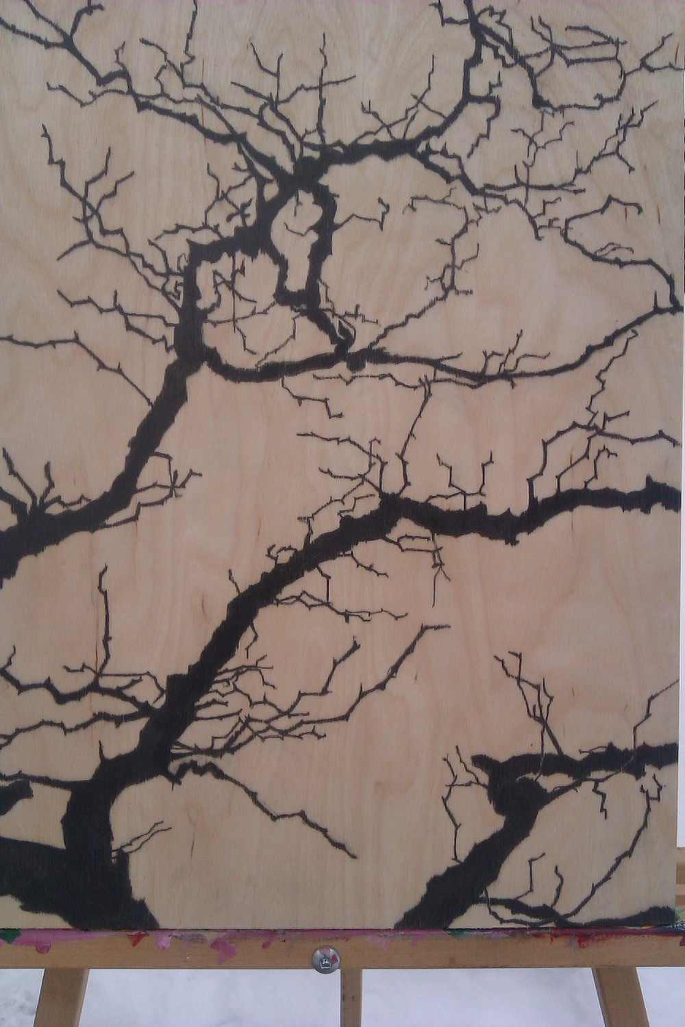 artwork # 4 HAWTHORN, pencil and varnish on birch board.jpg