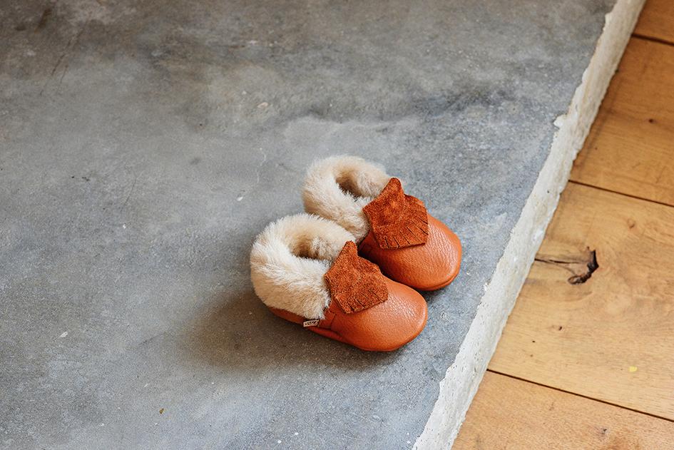 2f03c4941b93c Tan leather baby moccasins