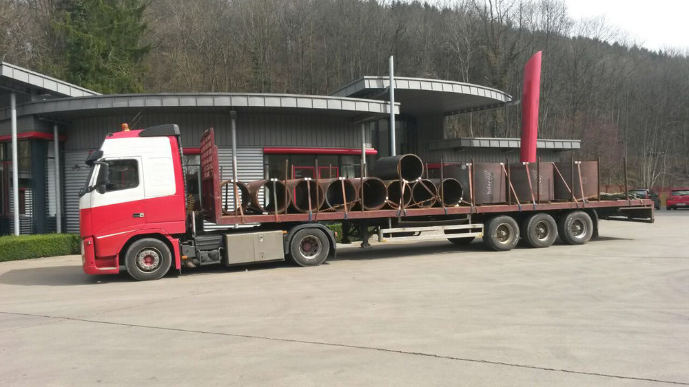 Baleco transport, dikwandige stalen buizen