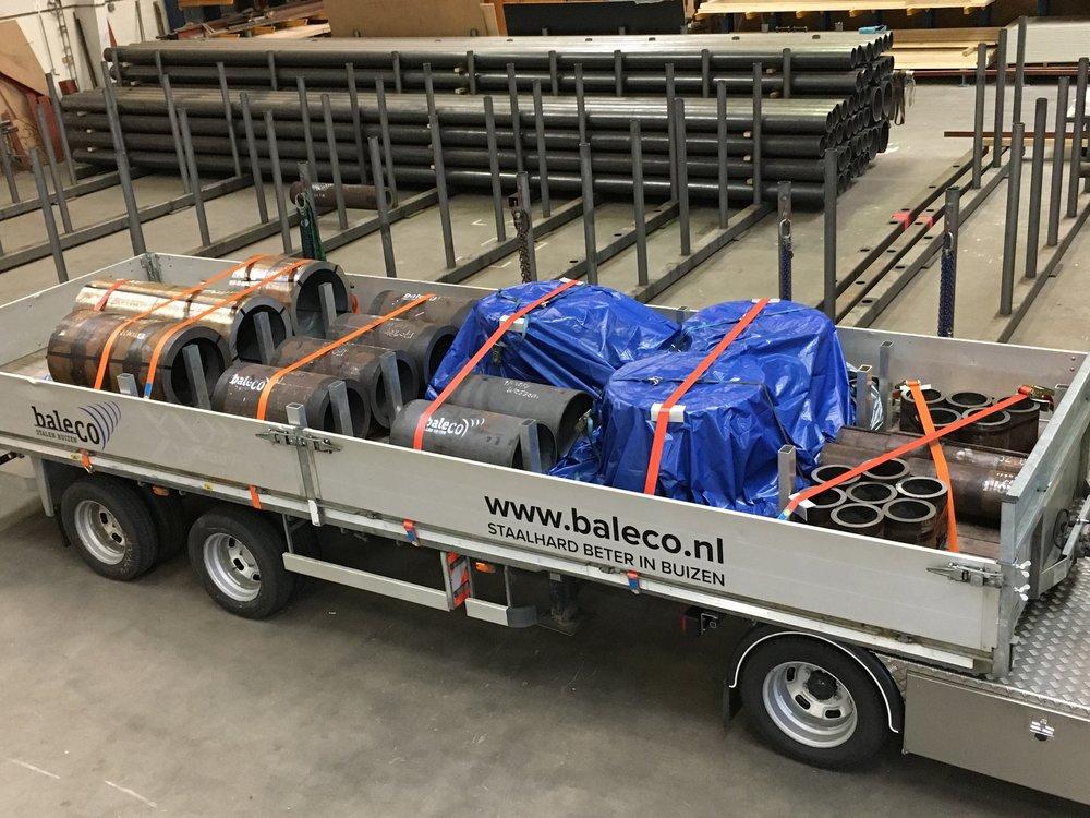 Baleco - naadloos stalen buizen - speciaaltransport