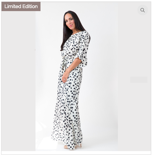 LINEAR COLLECTION Caftan Maxi Limited Edition Polka Dot $108