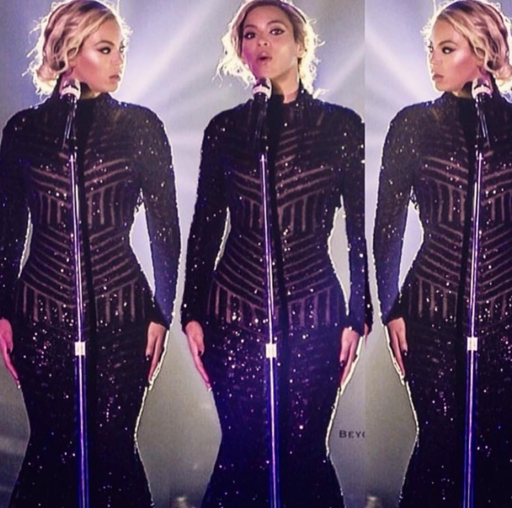 "Beyonce opens her Europe ""On The Run"" tour wearing Costello gown"