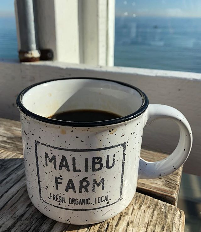 Living the dream #sorryny #malibuca #supportlocalcoffeeshops #californiasunshine #malibufarmcafe #eatlocalorganic #justbeachy #pacificocean #happyholidays2018 #summerindecenber