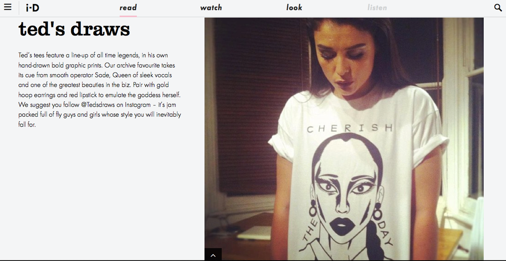 Ted's Draws named one of i-D's top 5 t-shirt designers