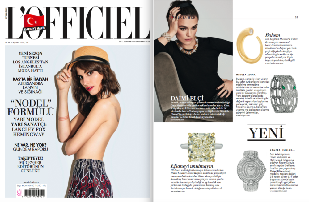 L'Officiel Turkiye August 16