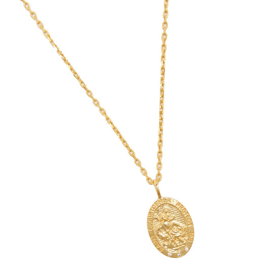 St christopher pendant necklace theodora warre st christopher pendant necklace aloadofball Gallery