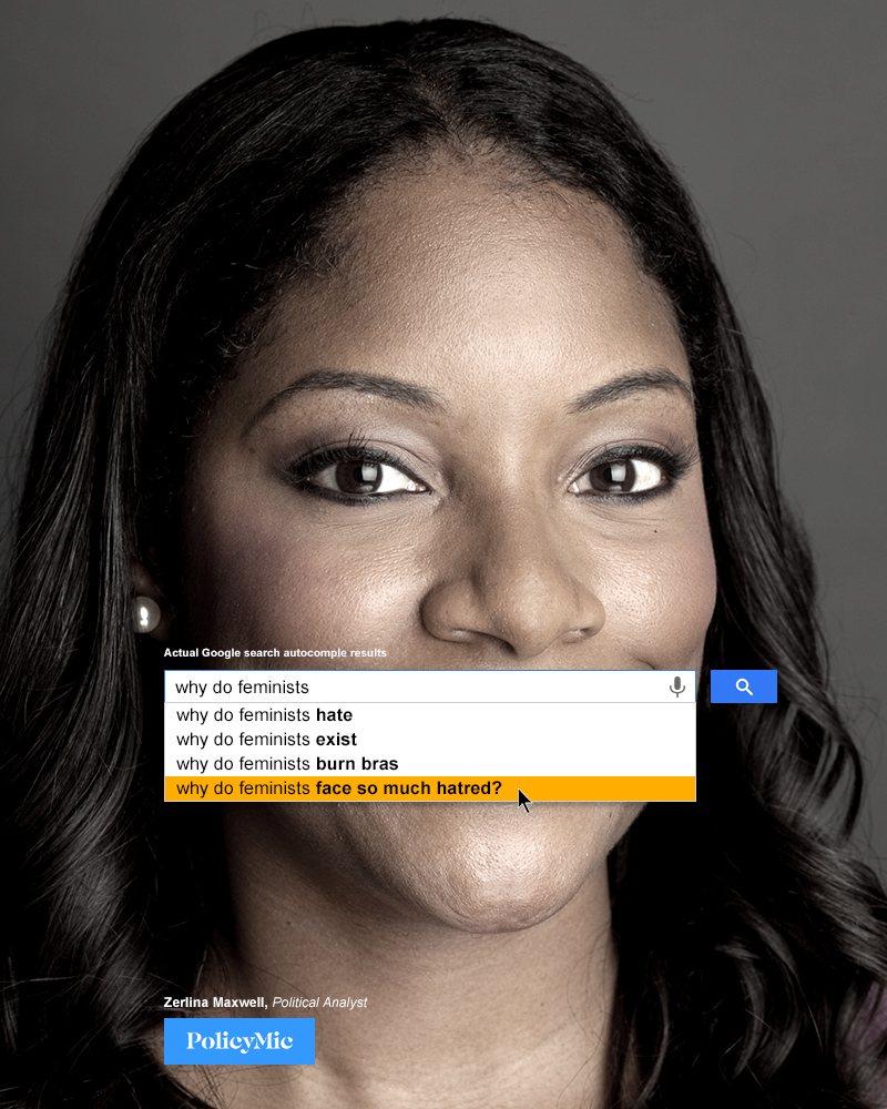 Disturbing Google Searches for Feminism, Re-Imagined by Inspiring Feminists