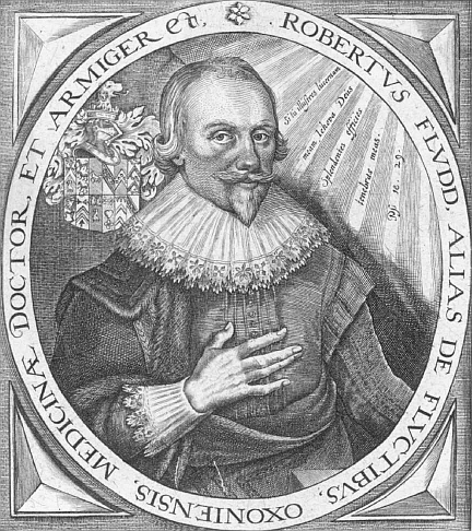 Robert Fludd (1574 –1637) (image courtesy of Smithsonian Library).