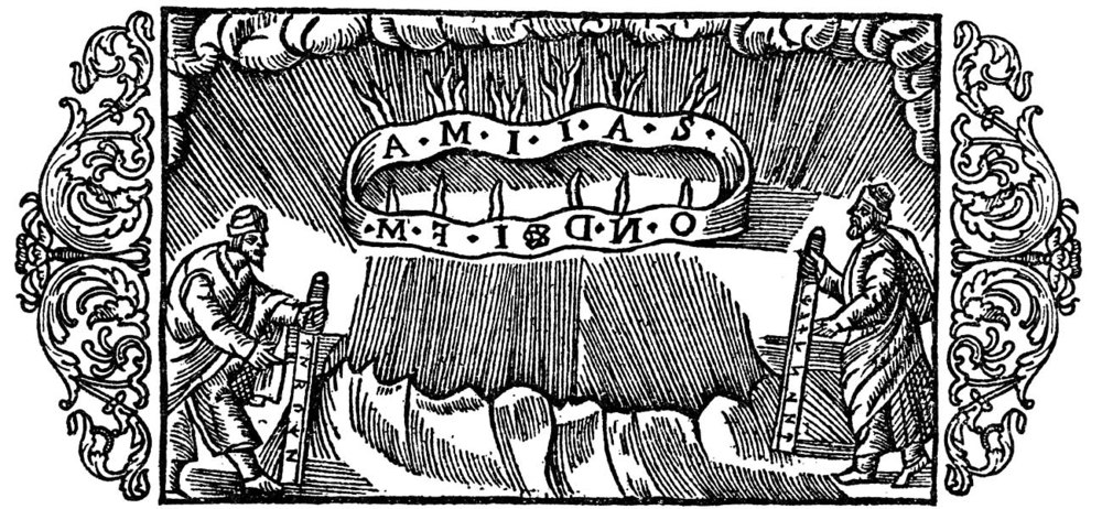 "Woodcut from the chapter ""On the Signification of Thunderstorms for Every Specific Month""  from the  History of the Nordic People  by Olaus Magnus (source:  www.avrosys.nu )."