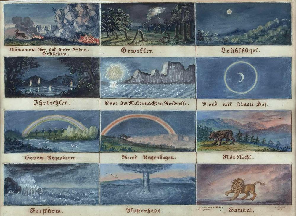 12 Ansichten von atmosphärischen Phänomenen  (1878)   by Josef Gabriel Frey.