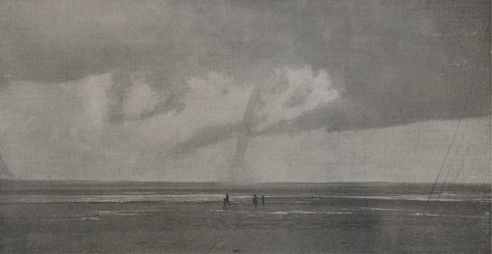 Waterspout at  Le Crotoy  (France) on 4 August 1910 at 1600 local time.