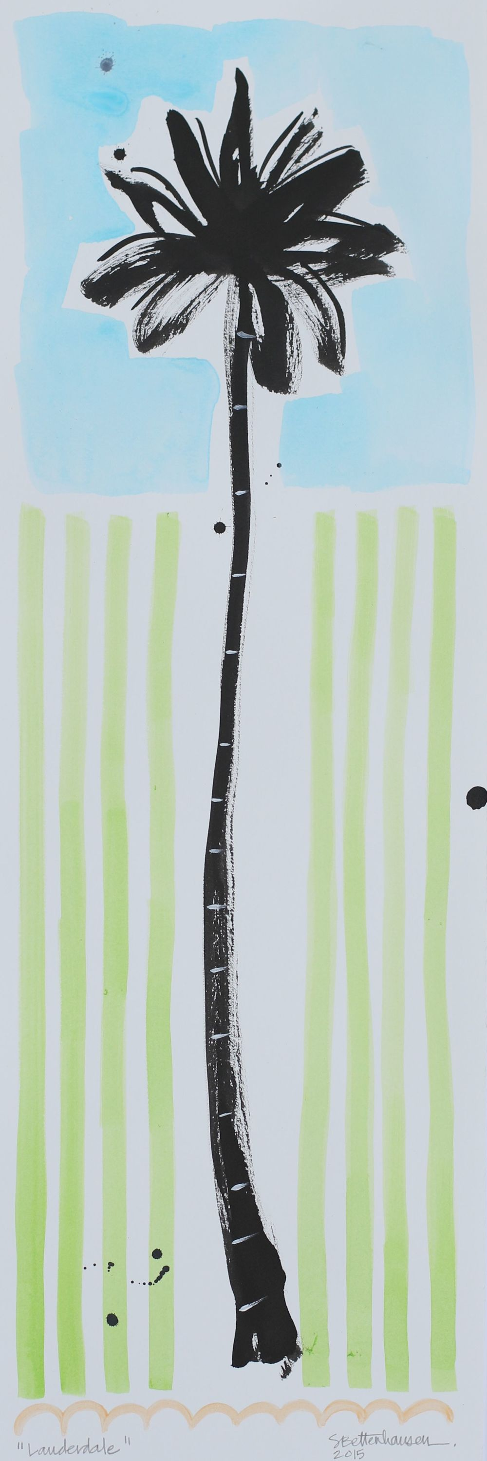 """Lauderdale"" 7.5x22.5 on paper $125"