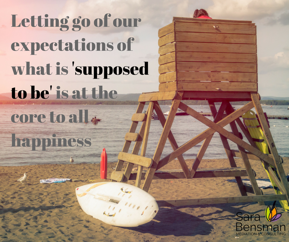 Letting go of expectations