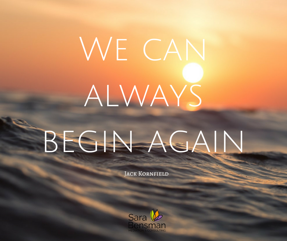 We can always begin again