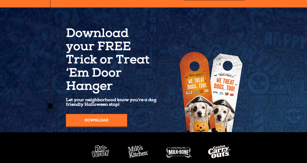 Everyone gets a free printable door hanger.