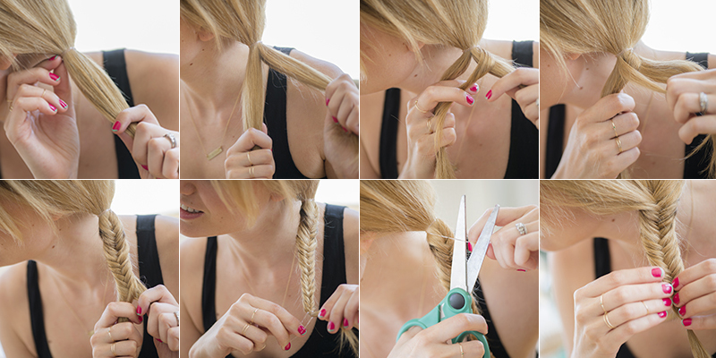 Fishtail braid in 8 easy steps