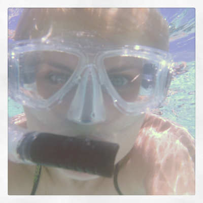 Underwater selfie with Watershot phone housing - Chasing Saturdays