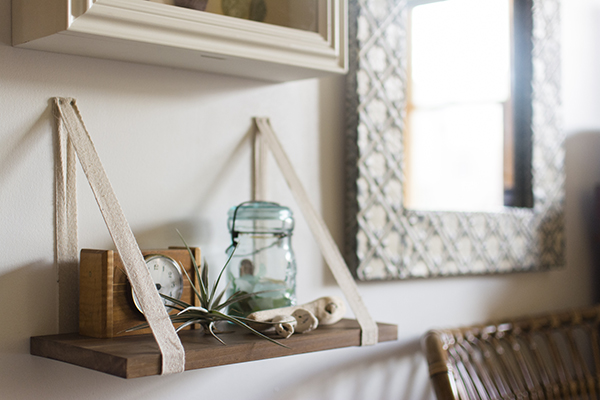 ribbon shelf bracket how-to - chasing saturdays