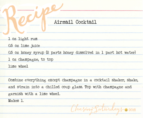 airmail cocktail - chasing saturdays
