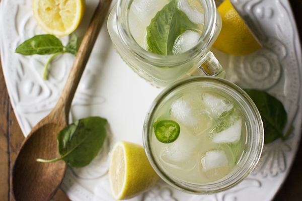 basil jalapeno lemonade cocktail - chasing saturdays