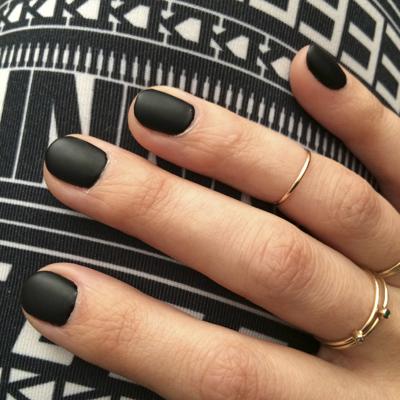 matte black nail polish - chasing saturdays