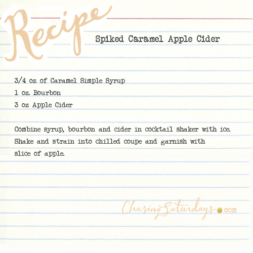 spiked caramel apple cider - chasing saturdays