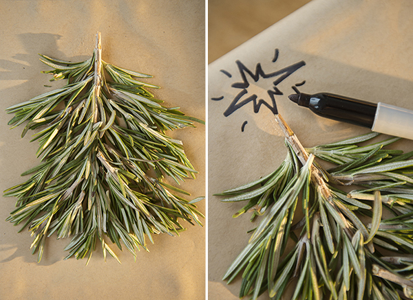 rosemary christmas tree wrapping d.i.y - chasing saturdays