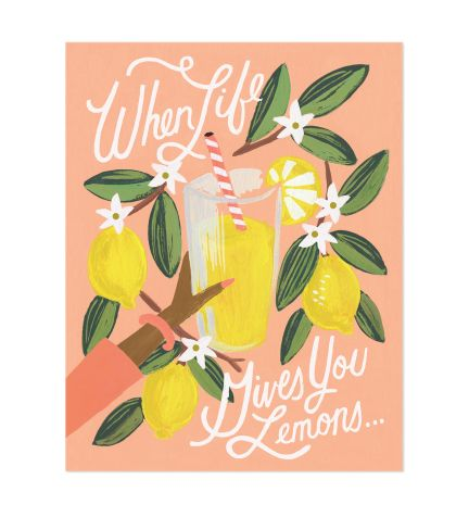 Rifle Paper Co. 'Lemons to Lemonade' Art Print
