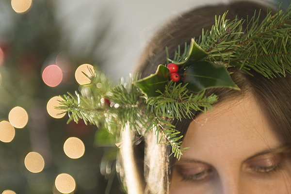winter pine flower crown - chasing saturdays