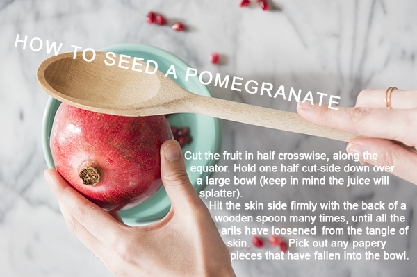 How To Seed a Pomegranate - chasing saturdays