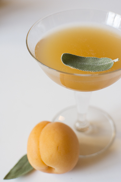 apricot, sage and bourbon cocktail - chasing saturdays