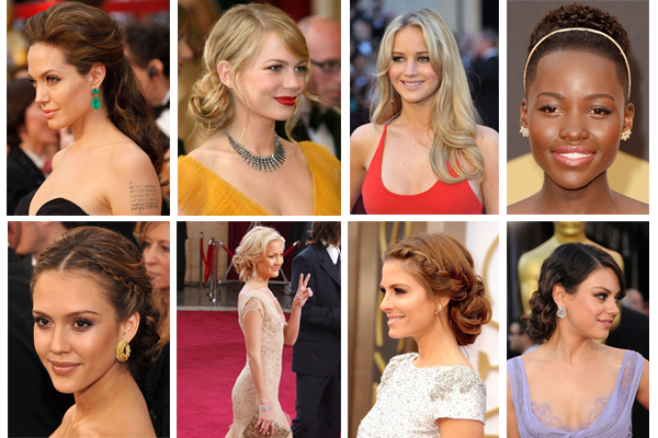 glam oscar hair styles - chasing saturdays