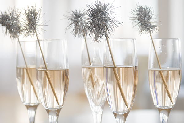 tinsel-topped drink stirrers - chasing saturdays