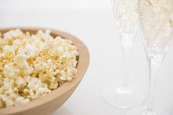oscar worthy, truffle parmesan popcorn - chasing saturdays