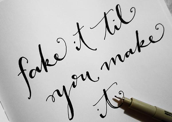 fake calligraphy technique - chasing saturdays