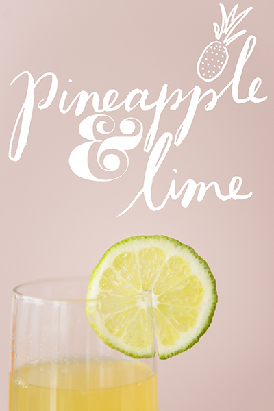 Get a printable pineapple and lime card  here .