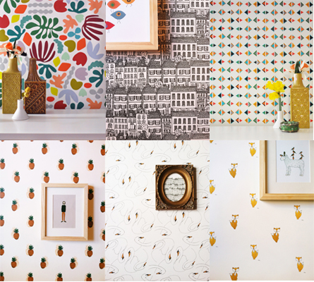 kate zaremba removable wallpaper - chasing saturdays