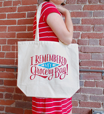 "Emily McDowell's ""I remembered my grocery bag!"" tote bag - chasing saturdays"
