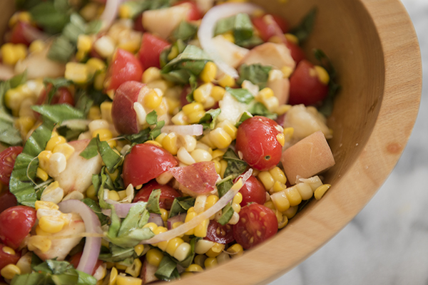 summer corn salad - chasing saturdays