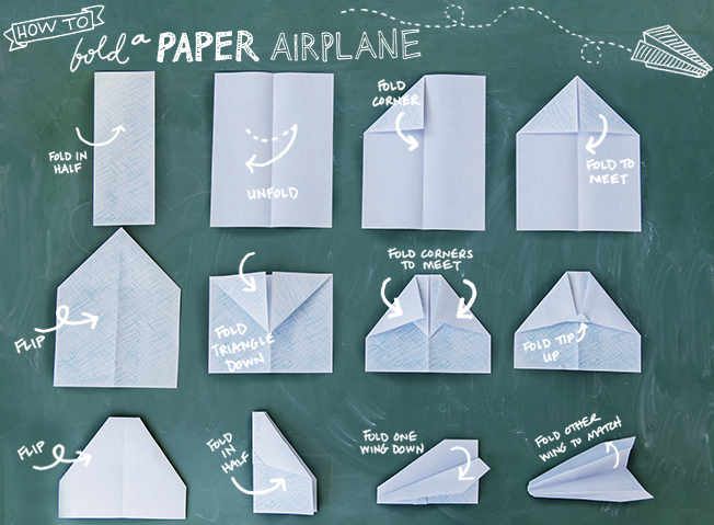 how to fold a paper airplane - chasing saturdays