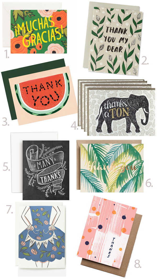 thank you cards round-up - chasing saturdays