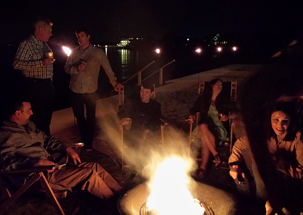 2. SKIP THE FLASH. Sure this photo is dark and even blurry at parts, but it captures the feeling of sitting around a campfire with friends so much more than a bright, awkward flash photo would.